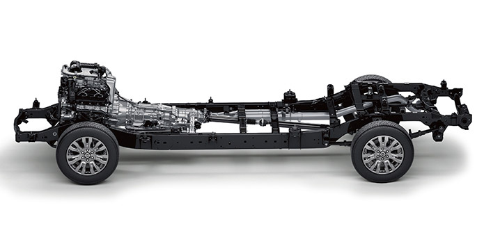 Nissan Titan Towing Capacity >> TITAN XD® Gas S Crew Cab Front independent double-wishbone with stabilizer bar and multi-leaf ...